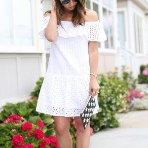 Rebecca Minkoff Celestine white eyelet dress